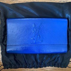 Cobalt Blue Yves Saint Laurent clutch